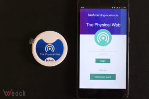 uribeacon with mobile app