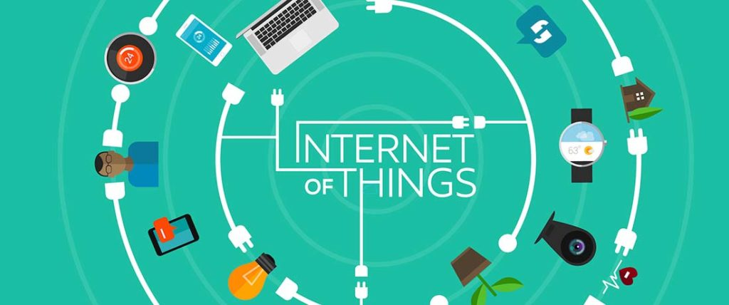 internet of things green linked image