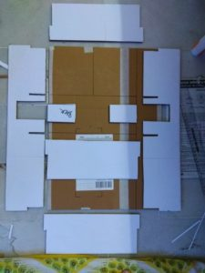 walls made and structure blueprint